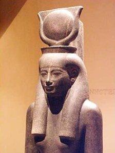 Statue of Hathor in the Luxor Museum