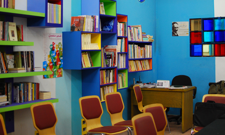 El-Cabina's library space (Photo: Rowan El Shimi)